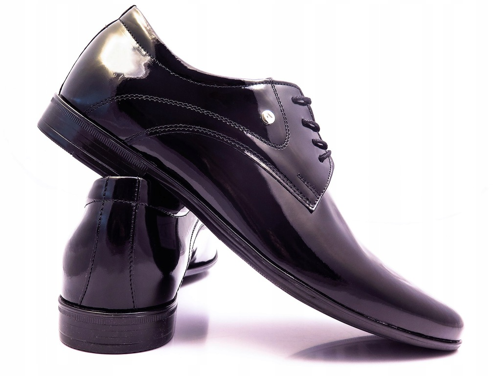 Czarne lakierki buty wizytowe Modini T93 44 8107544381