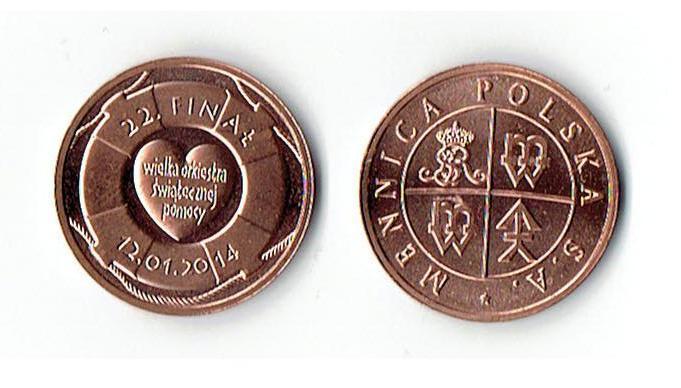 Moneta - medal WOŚP Mennica Polska OKOLICZNOŚCIOWA