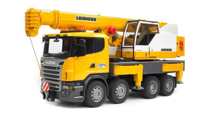 BRUDER Pojazd Scania R Liebherr Dzwig z modulem