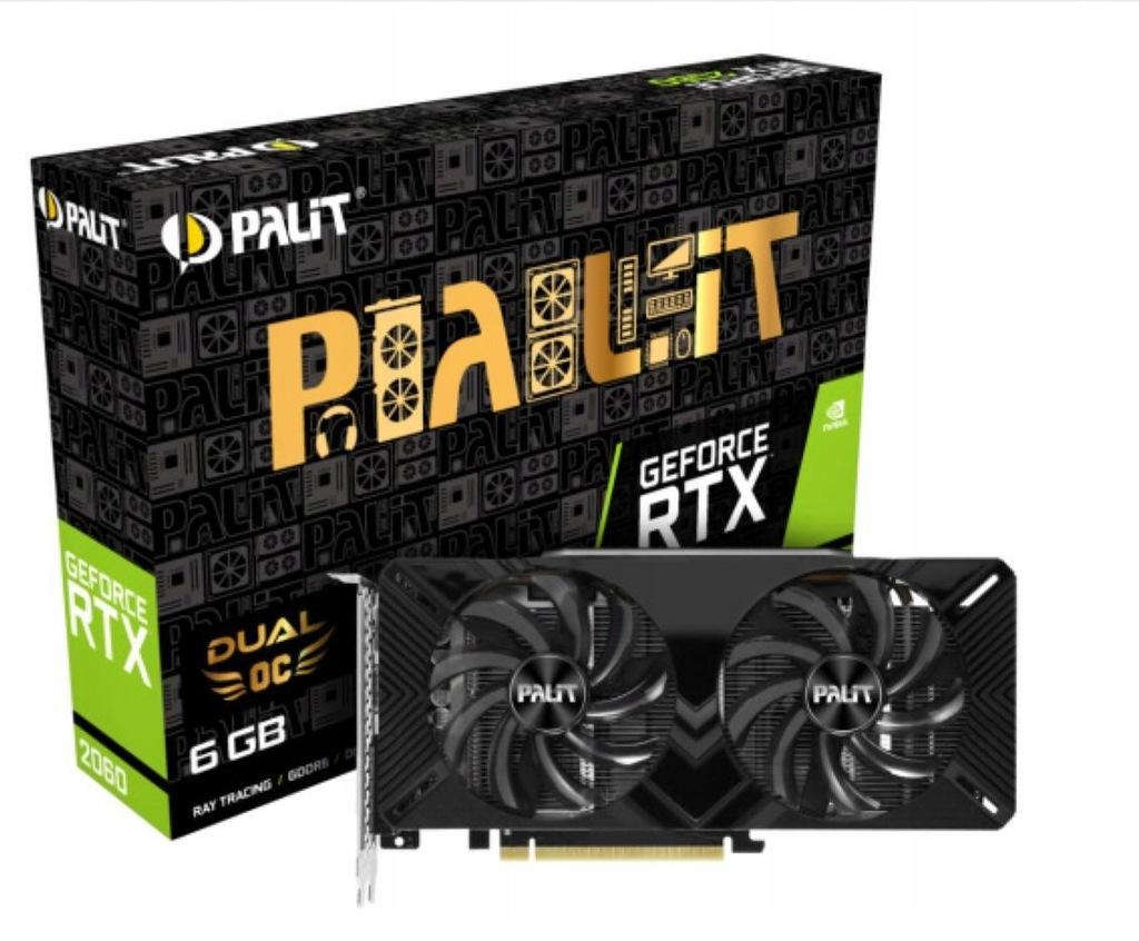 Karta Palit GeForce RTX 2060 Dual OC 6GB GDDR6 192