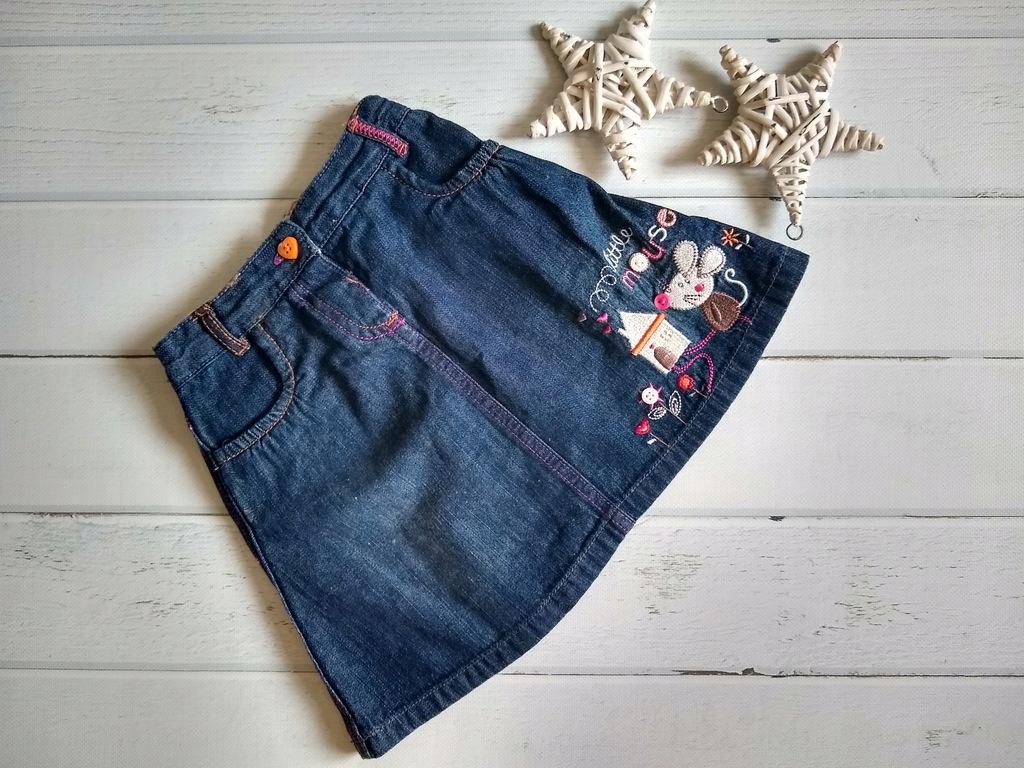 TU spódniczka jeans haftowana myszka 86 92