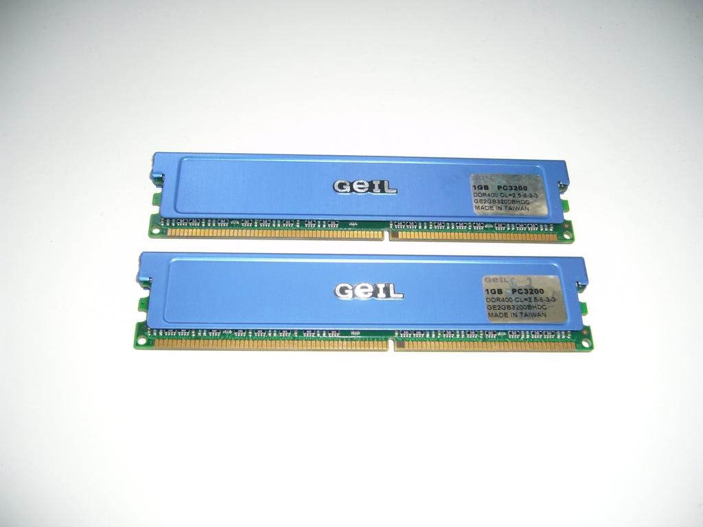 Geil 2GB (2x1GB)DDR 400MHz Cl.2,5 Dual Ch