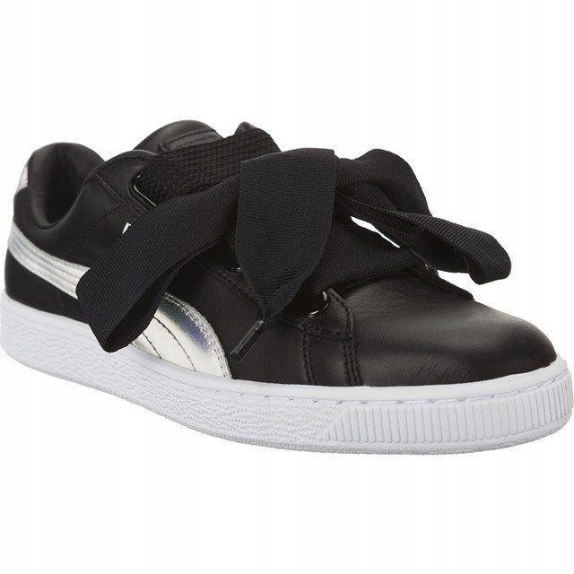 Sneakersy Buty Damskie Puma z kokardą czarn 35.5