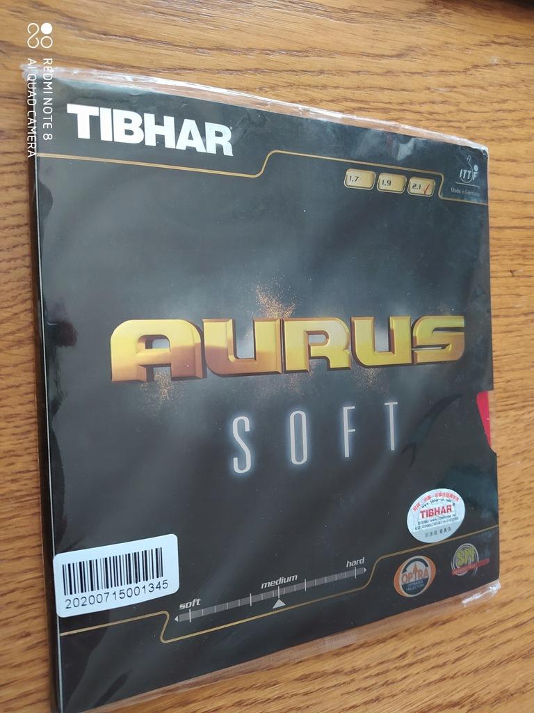 Okładzina Tibhar Aurus Soft 2.1 Red Tenis Stołowy
