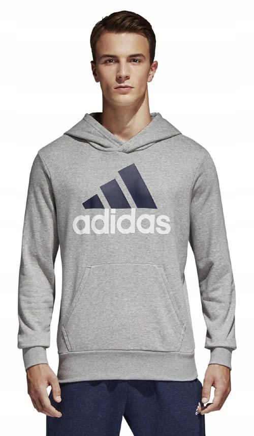 Bluza młodzieżowa z kapturem Essentials Linear Adidas (szara)