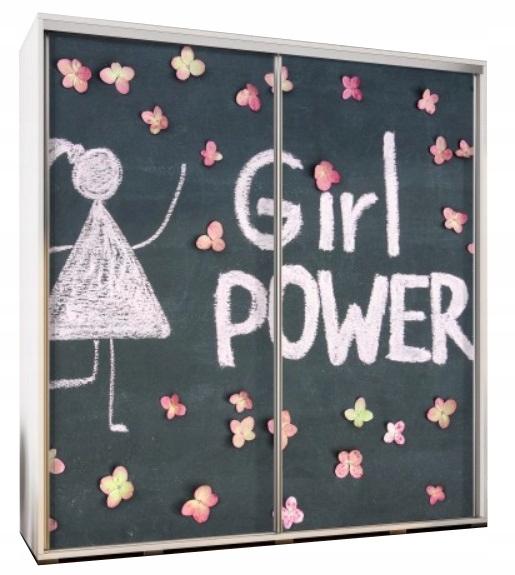 Szafa przesuwna z Grafiką 205cm MX - Girl Power