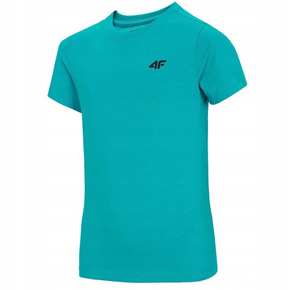 T-shirt Koszulka dla chłopca 4F turkusowa 128 cm