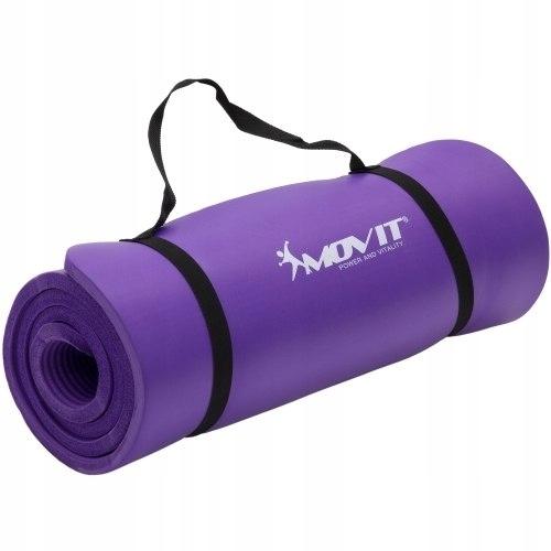 Fioletowa mata do ćwiczeń, jogi, masażu, 190 x 60