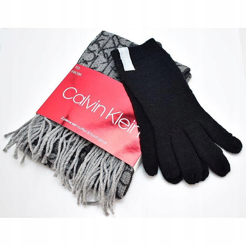 Komplet Szalik Rękawiczki Calvin Klein z USA