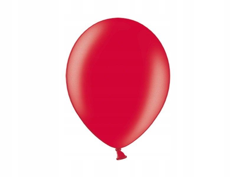 Balony 10'', Metallic Cherry Red (1op=100 szt)