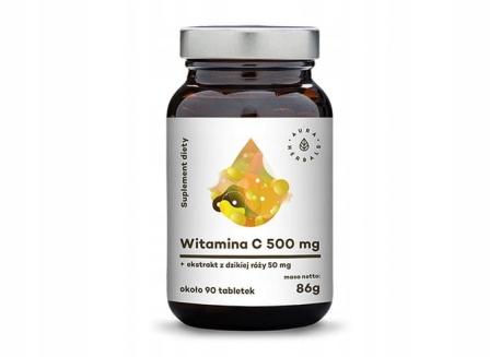 AURA Witamina C 500 mg Dzika Róża 90 tab immunity