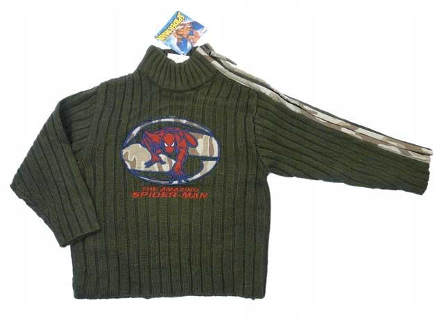 bas06 Sweterek chłopięcy Spider-man 5lat 108 WYPRZ