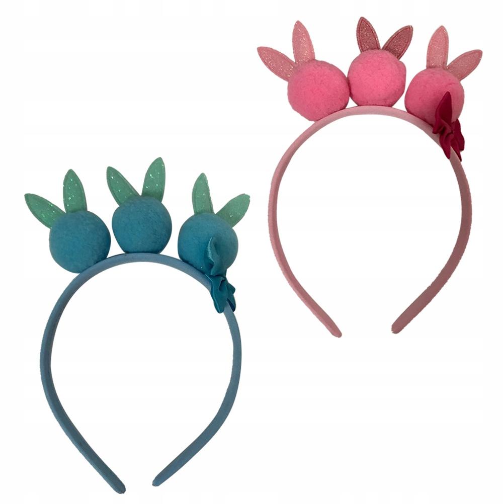 2szt Różowy brokat Bunny Ear Design Hoop Hairball