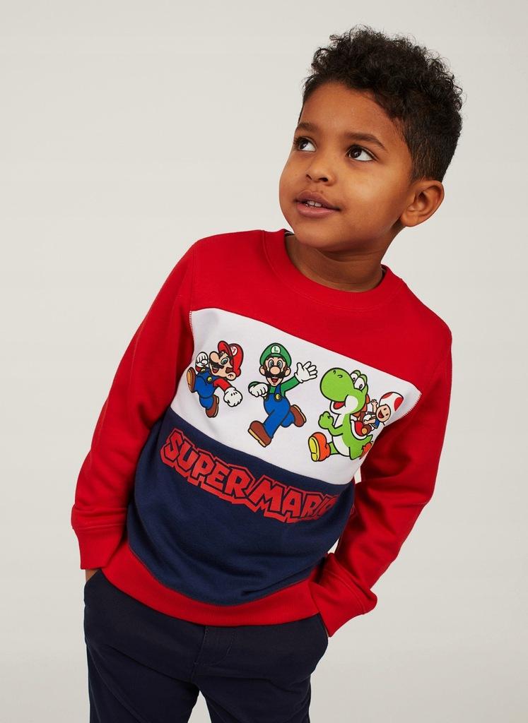 H&M super bluza z kapturem r. 134/140 MARIO