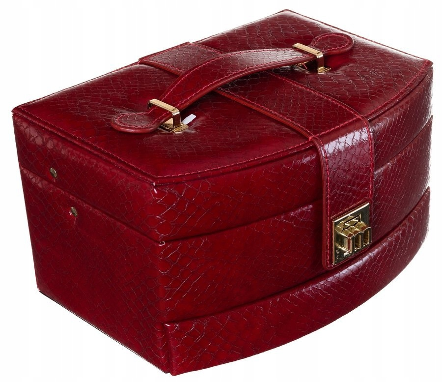 Półokrągła, klasyczna szkatułka na biżuterię z mot