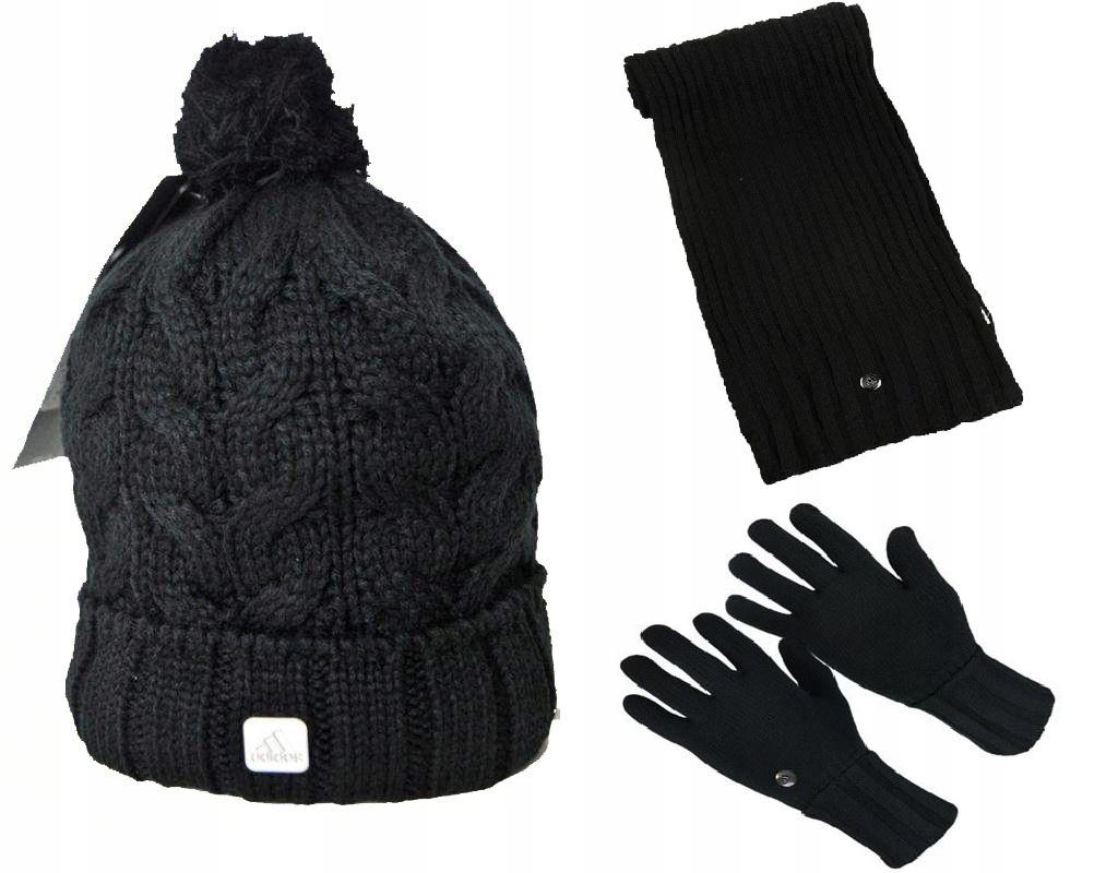 Zestaw Zimowy Adidas - czapka , szal, rękawiczki