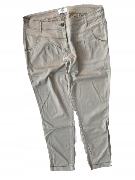 ANNE L__WYSOKIE spodnie chinos rurki___40 L