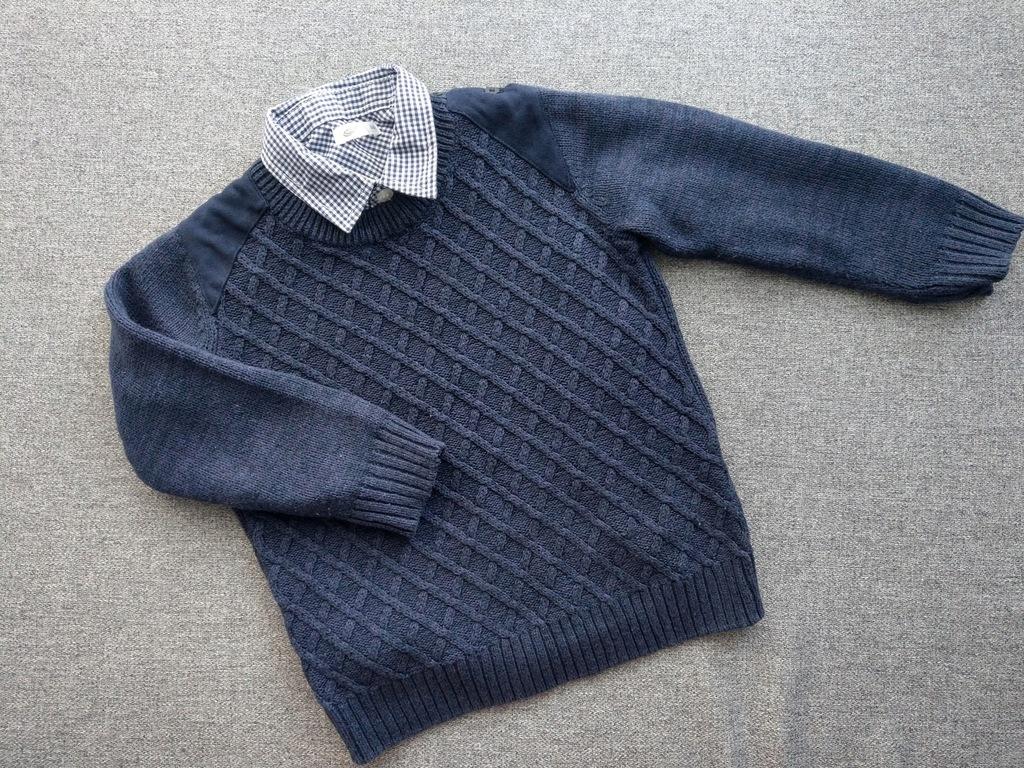 Sweterek i koszula rozm 86