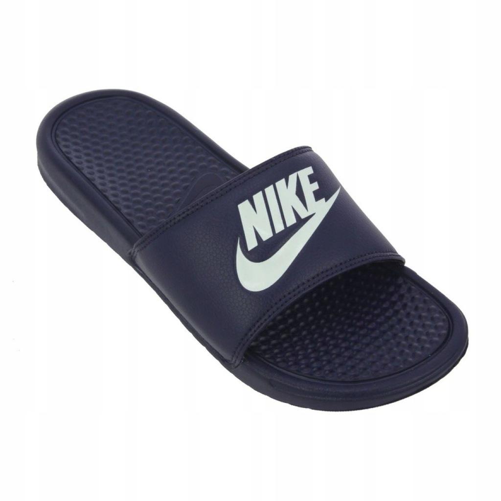 Granatowe Buty Męskie Klapki Nike r.47,5