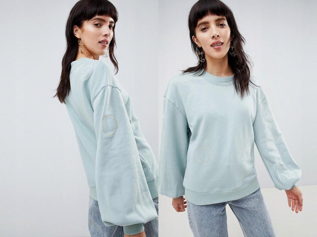 Selected Femme - Bluza z metalicznym haftem S