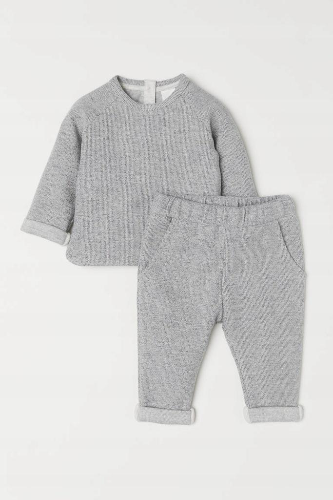 H&M Top i spodnie komplet 56cm 1/2mies