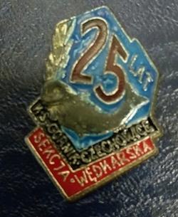 Odznaka wędkarska PZW 25 Górnik Czechowice