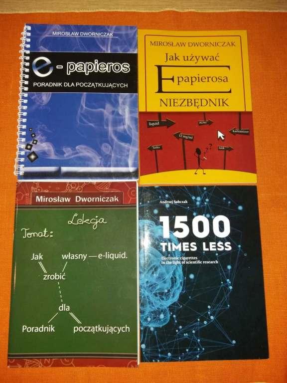 Zestaw książek o e-papierosach od Starego Chemika
