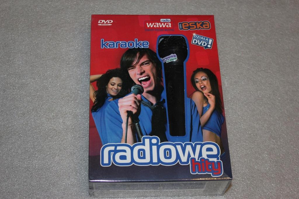 KARAOKE RADIOWE HITY PC DVD PL NOWA + MIKROFON
