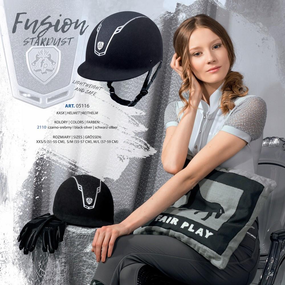 Farbe Navy-Silve Fair Play Fusion Stardust Reithelm Gr/ö/ße S//M 55-57