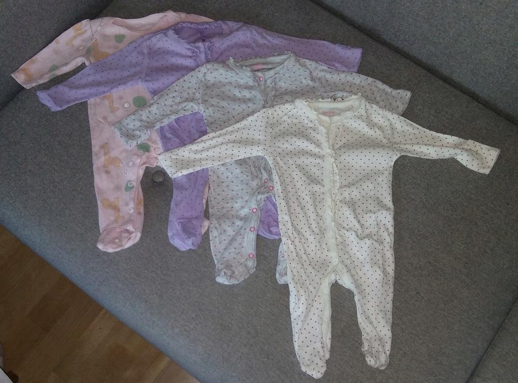 Zestaw paka ubranek r. 56 pajacyki koszulki