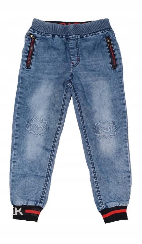 Spodnie chłopięce jeansowe joggery 92-98