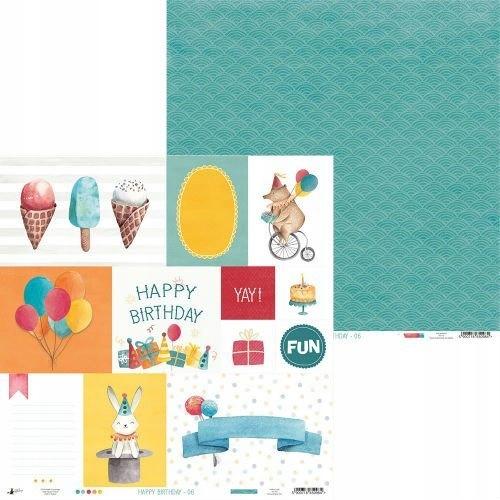 Papier Happy Birthday 30x30 Piątek Trzynastego 06