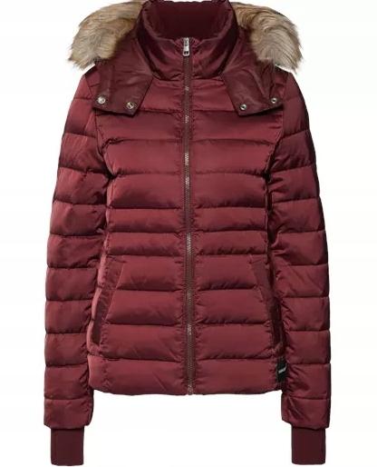pikowana bordowa kurtka ck damska