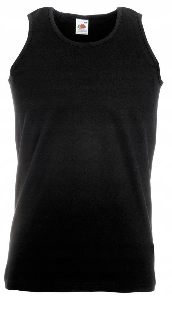 Koszulka FRUIT męski podkoszulek Black S