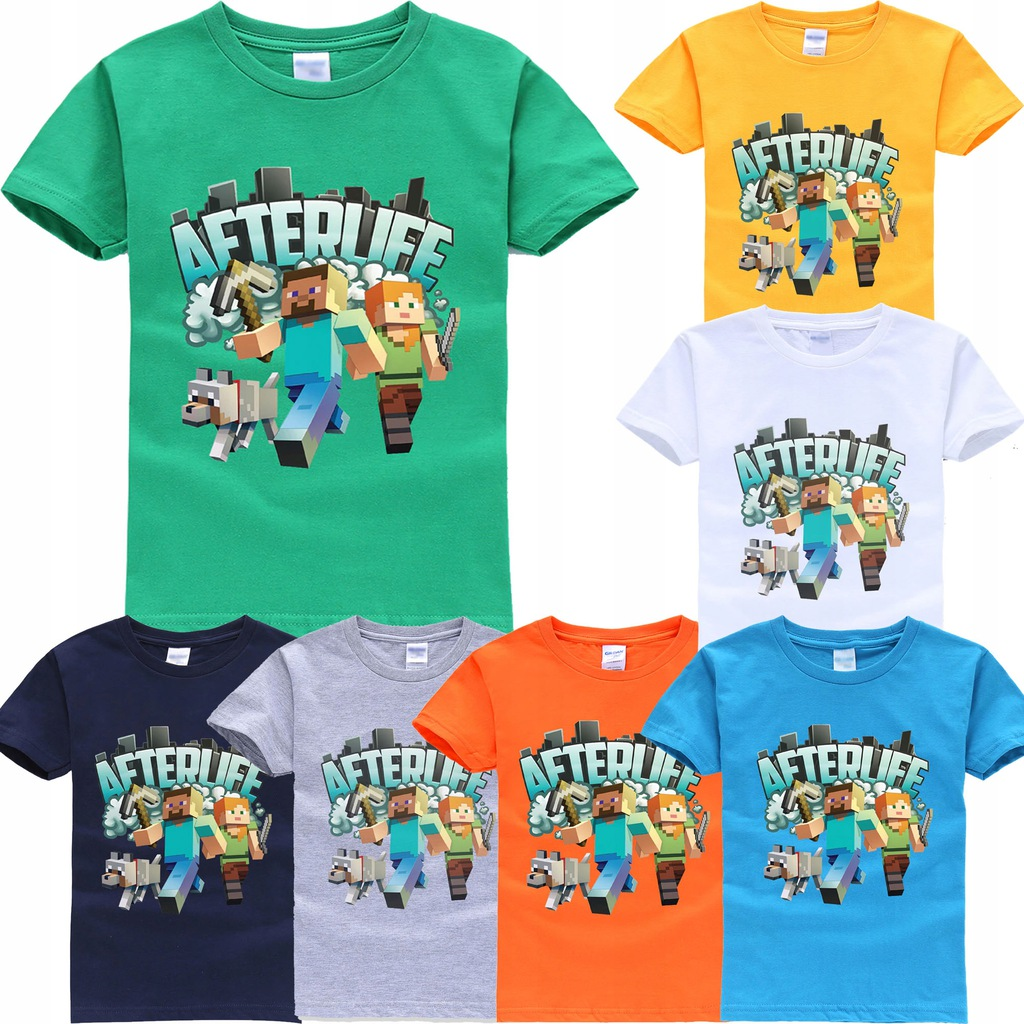 MINECRAFT CREEPER Bluzka T-shirt 128 8 lat