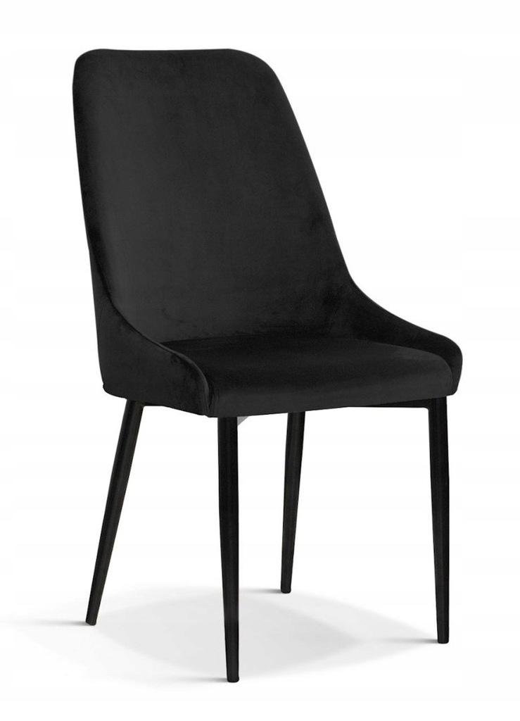 Krzesło OLIVIER M czarny/ noga czarna/ BL19