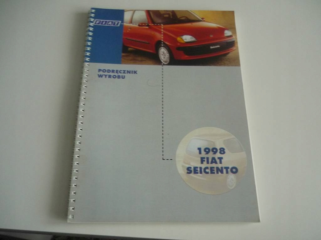 FIAT SEICENTO 1998 PODRĘCZNIK WYBORU PROSPEKT