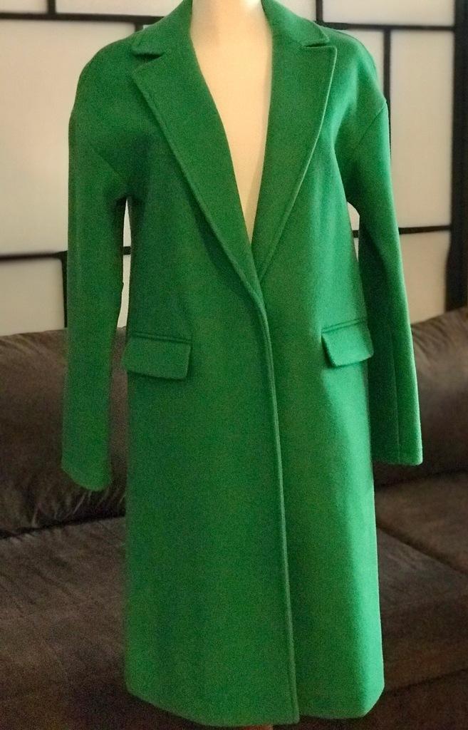 Zielony płaszcz Top Shop - idealny 34/36
