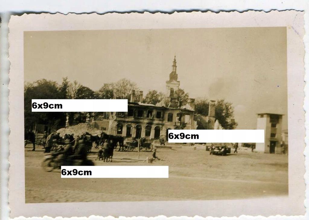wrzesień 1939 MSZCZONÓW zniszcz rynek kościół