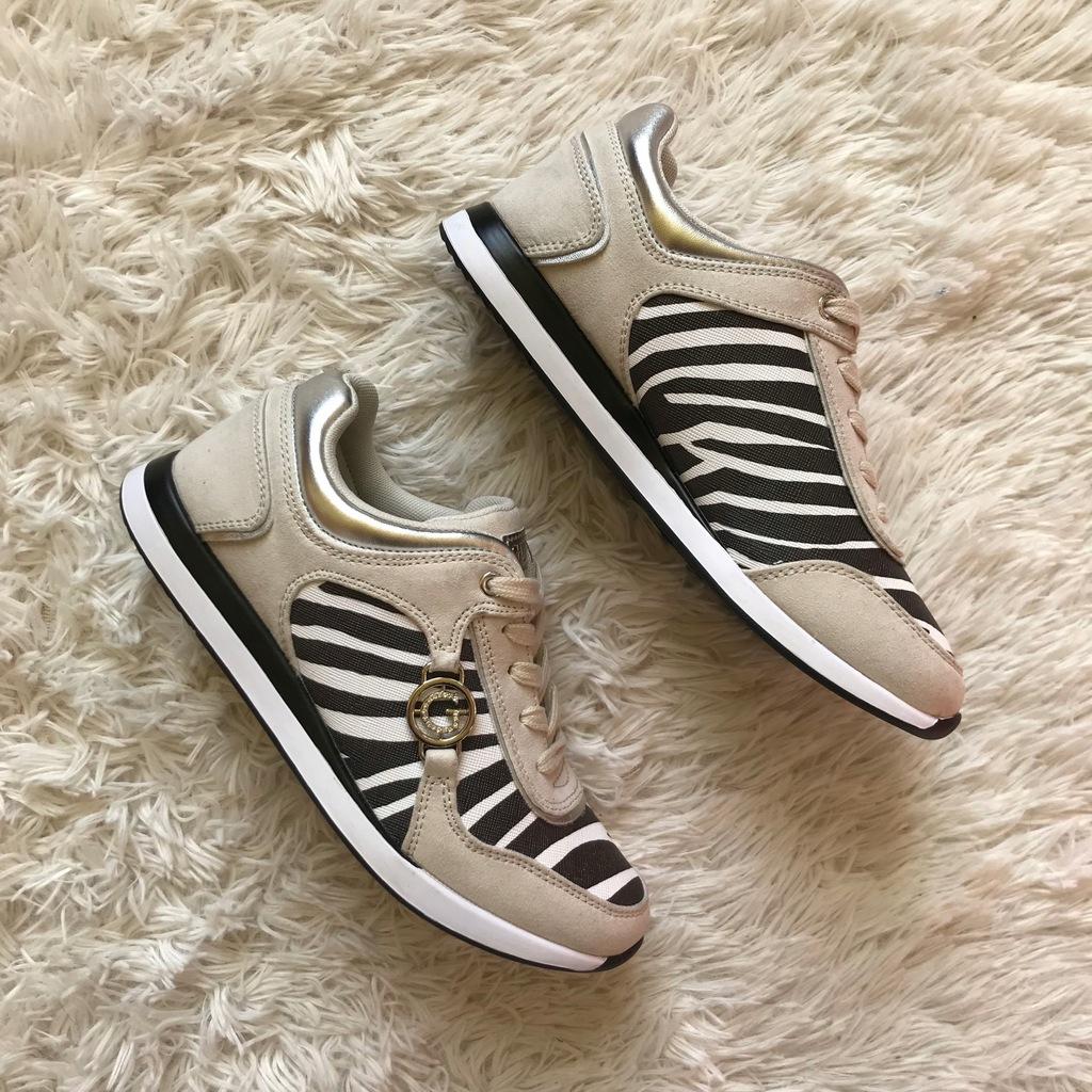 Nowe oryginalne buty sneakersy GUESS Cleo zebra 39