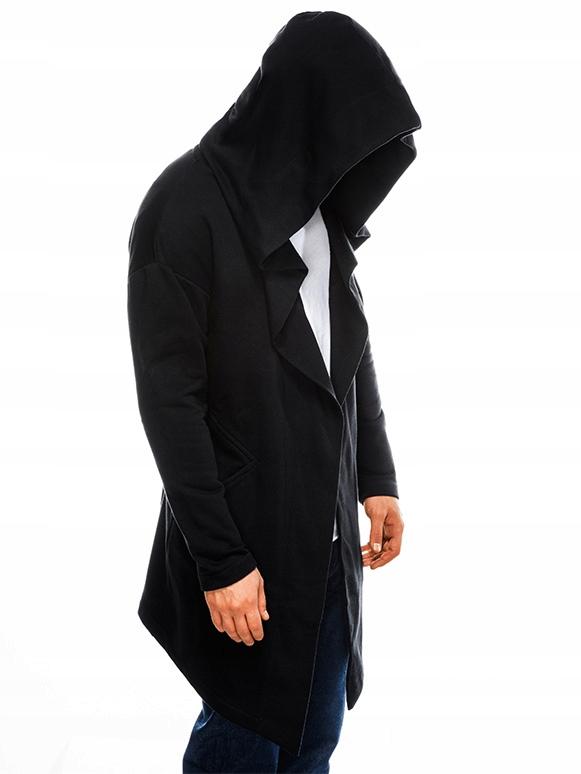 OMBRE PREMIUM Długa bluza męska B961 czarna S