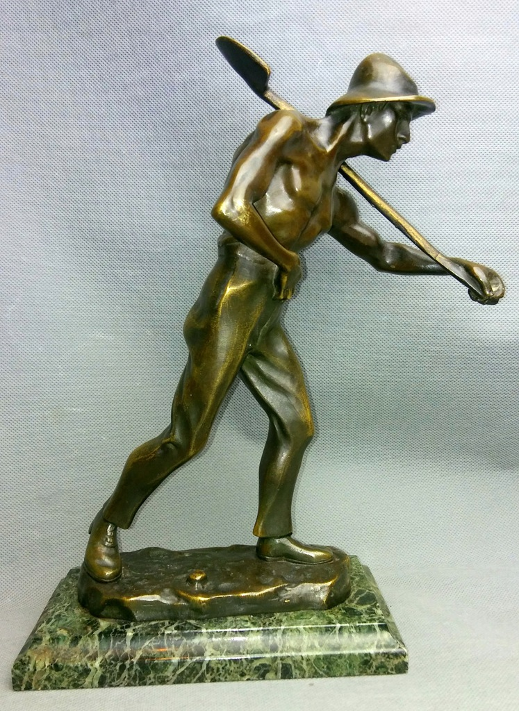 Rzeźba Brąz Górnik 1930-50