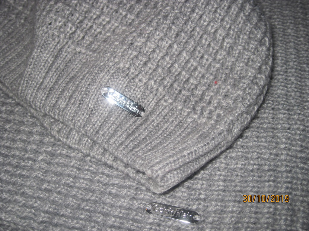 Calvin Klein komplet czapka i komin szary