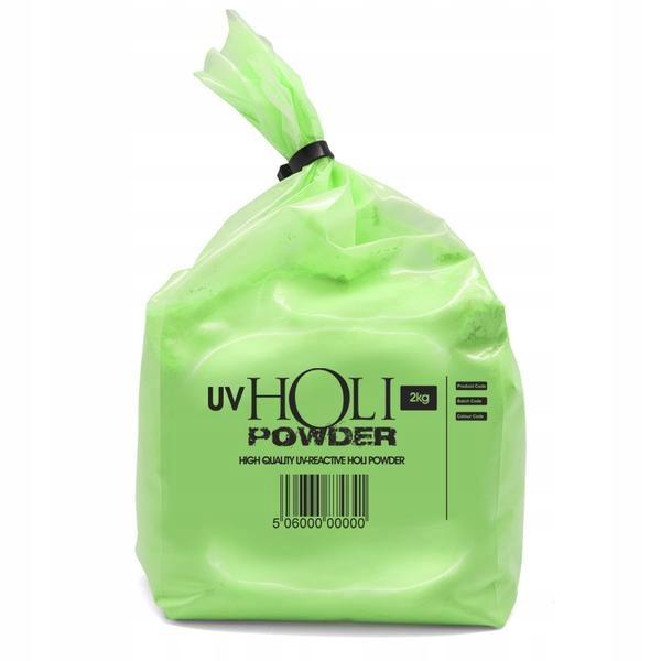 Kolorowy proszek HOLI 2kg NEON UV ZIELONY green