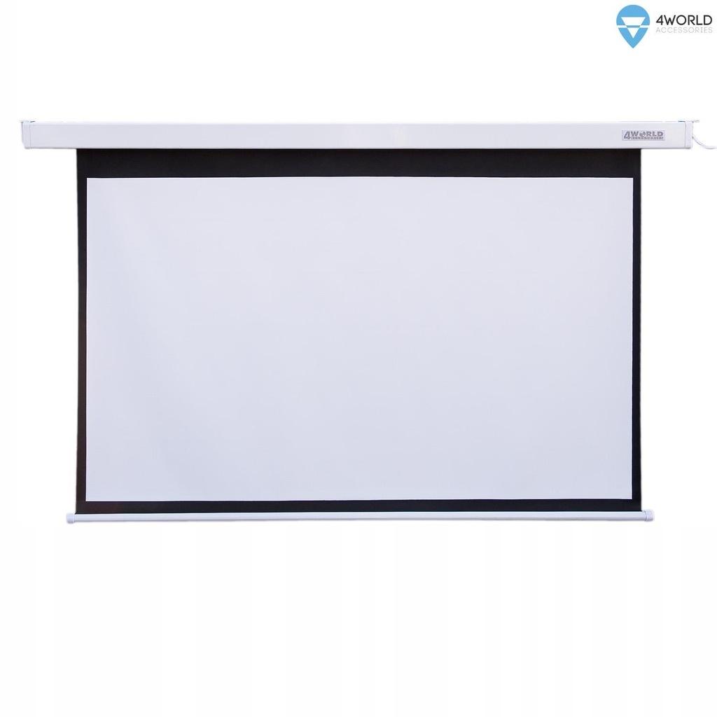 Ekran projekcyjny elektryczny do zawieszenia na su