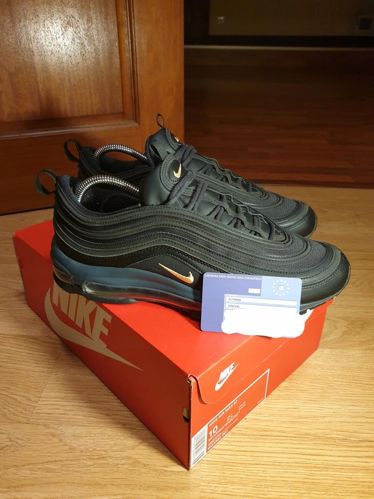 Nike air max 97 limitowane cw black gold