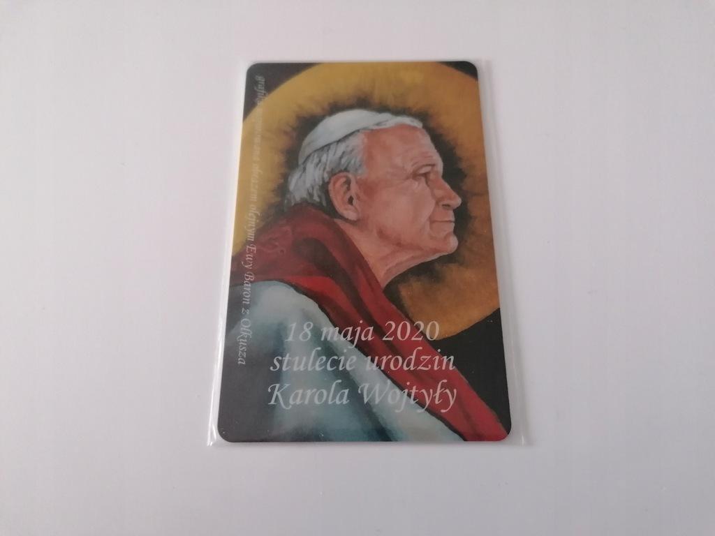 Karta kolekcjonerska JAN PAWEŁ II