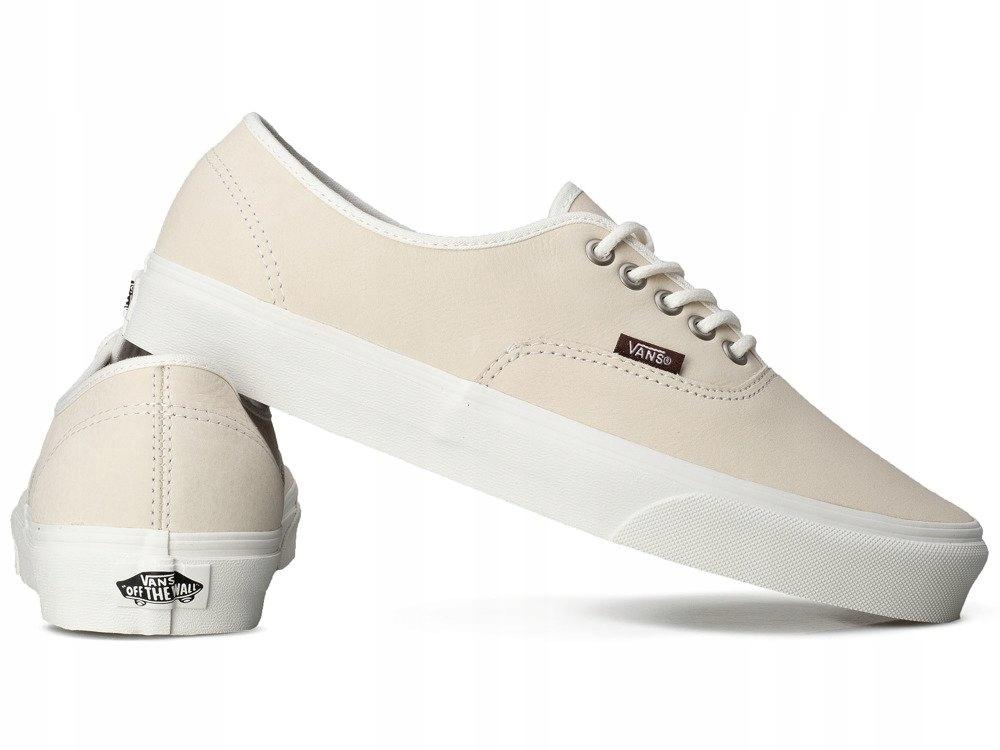 Damskie buty VANS trampki beżowe tenisówki SKÓRA