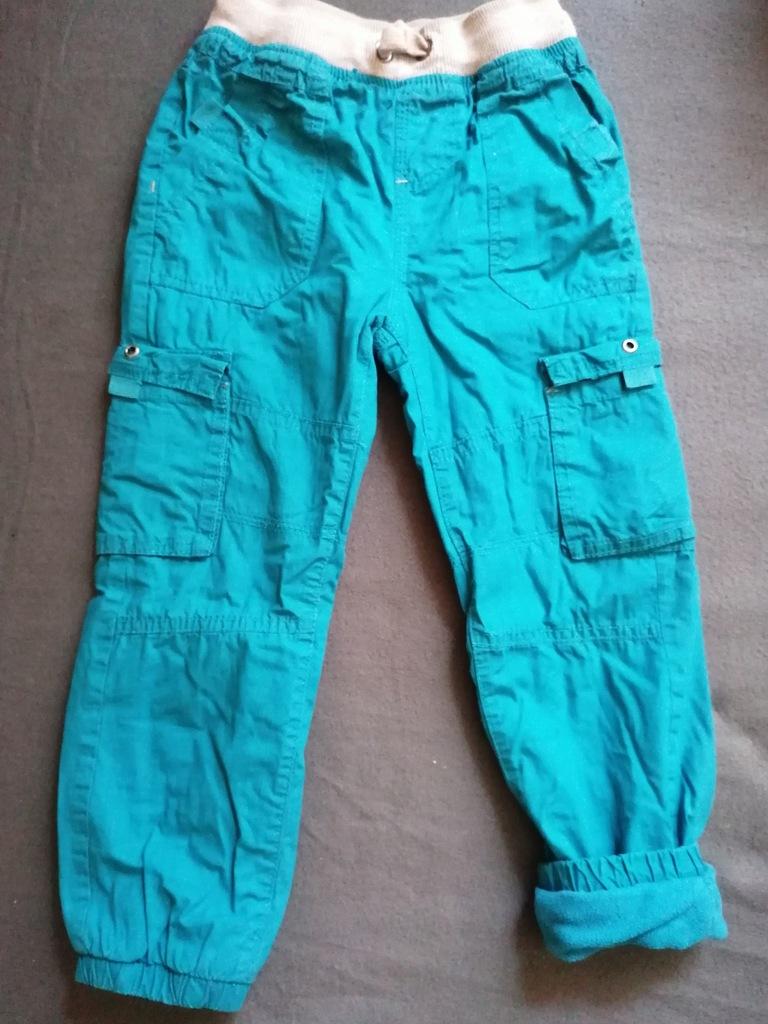 Spodnie ocieplane polarem rozm. 116 cool club