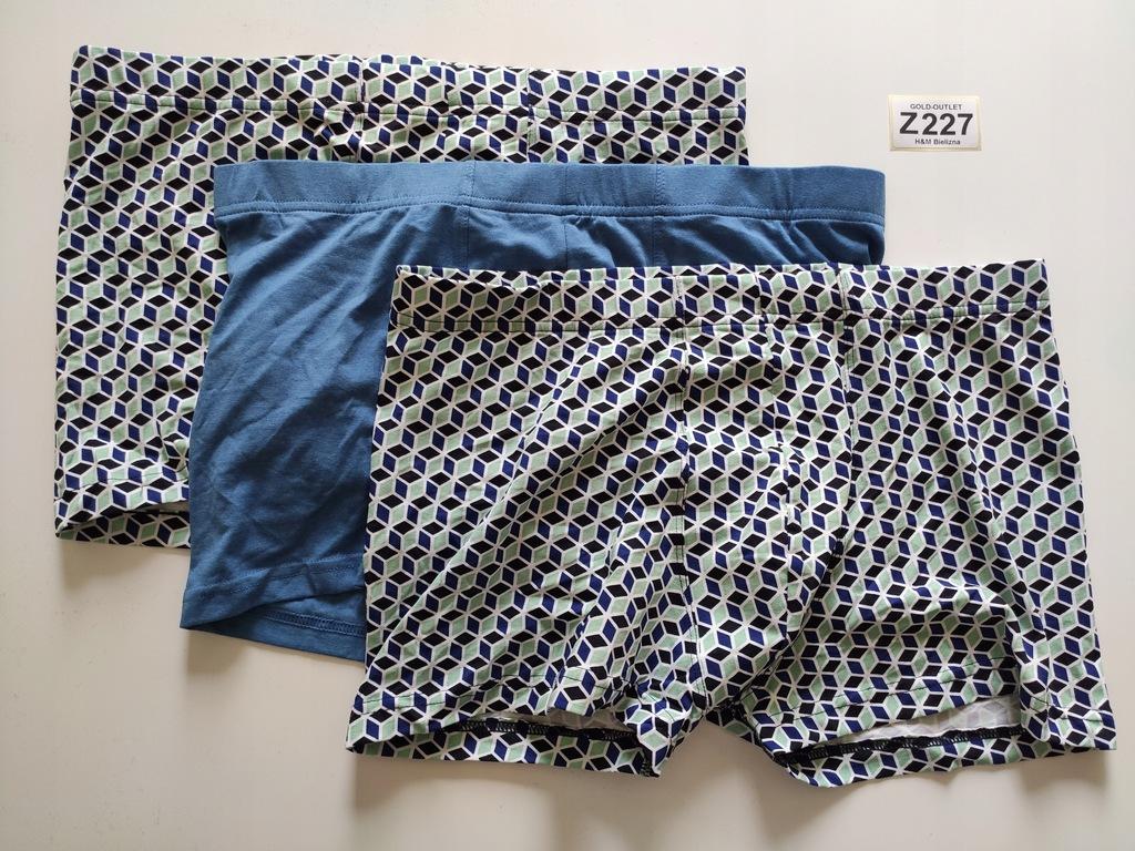 BOKSERKI majtki H&M 40 L 3 pak Z227